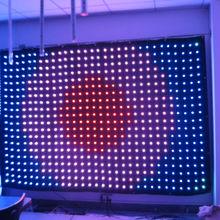 DVI indoor flexible led video cloth light wall