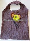 Cute Animal Monkey Foldable Folding Eco Green Reusable Shopping Tote Bag(CFA-072)