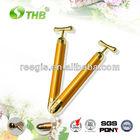 wholesale 24K gold magnetic vibration beauty massager roller