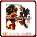 promocional perro diseño de soporte de madera debajo de la taza para utensilios de cocina