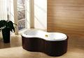 Hs-m2007 pé banheira de massagem amendoim- em forma de banheira simples