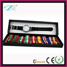 2014 Latest design multiple interchangeable nylon straps nylon watch gift set