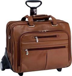 Leather Wheeled Laptop Case