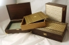 Wooden Box Covered With Malaysian Traditional Garment (Songket) Suitable For Premium Gift