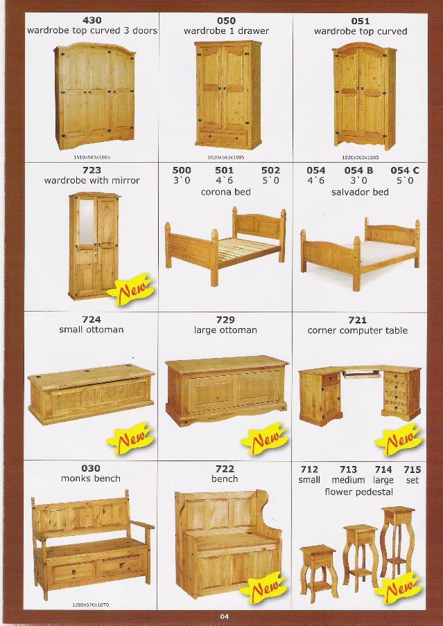 muebles en pinoDemás muebles de maderaIdentificación del producto