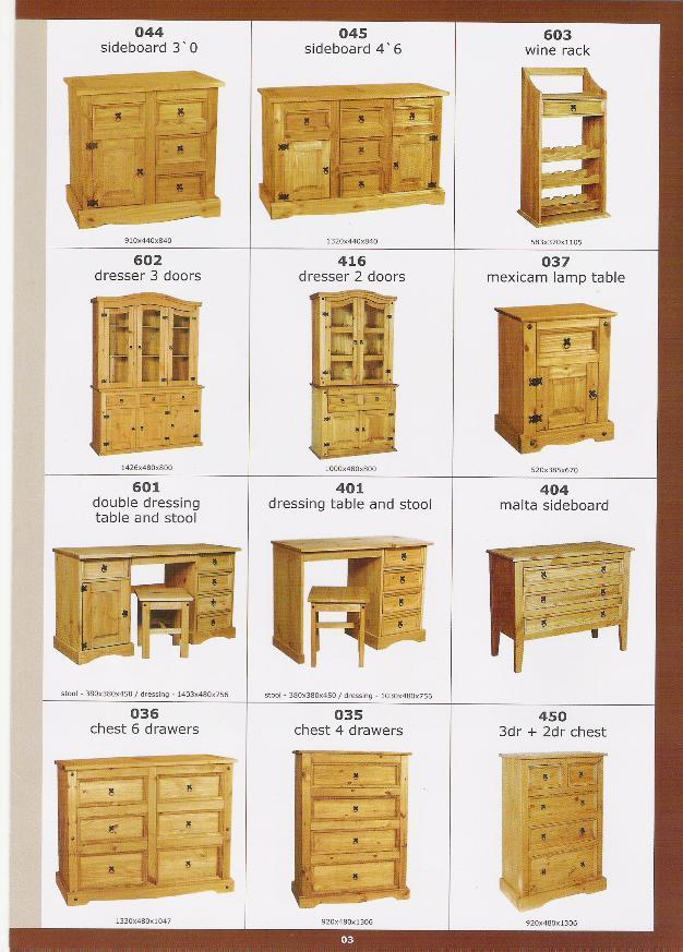 Muebles en madera de pinoOtros Muebles de maderaIdentificación del