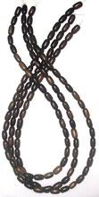 Tiger Ebony Rice Shaped Wood Beads 5x9-10mm