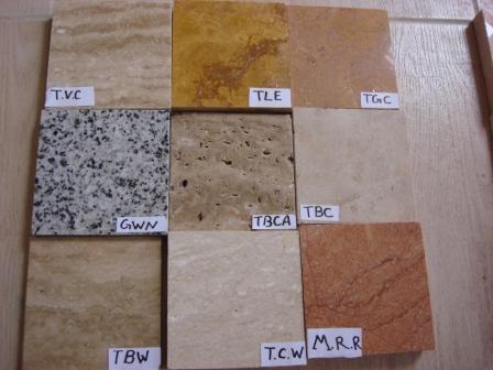 Tutti i tipi di marmo