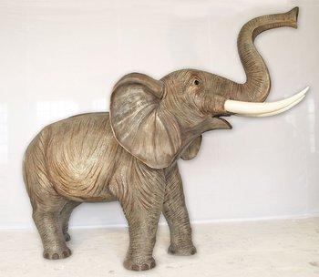 Life-Size Fiberglass Giraffe, Elephant, Camel