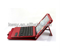 Leather Stand Case Cover With Removable Bluetooth Keyboard For iPad Mini