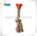 corda cotten knot bone forma crochet brinquedos do cão