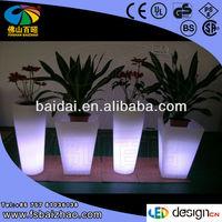 LED Flower Pots with Remote Controller and Color Changing Garden light decoration Flower pot vase