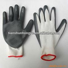 Multy color nitrile safe work gloves