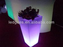 modern glowing led lighting flower pot/led furniture