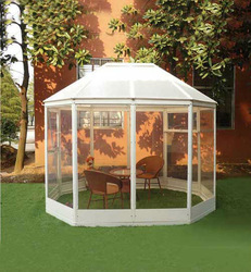6x9ft strong frame aluminum green house for home&garden