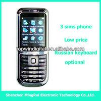 8899 3 sim card low price china mobile phone
