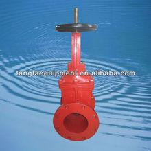 cast iron non rising stem din 3352 fire protection gate valves