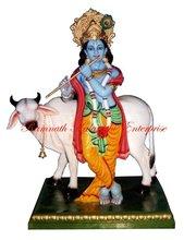 Cow Krishna Mandap Decoration Statue