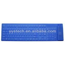 Colorful Wired flexible czech keyboard