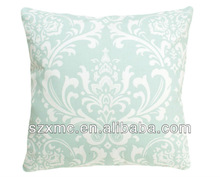 100% polyester satin flower embroidery cushion