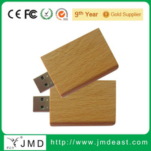 Factory OEM price Natural wood Book shape usb flash drives