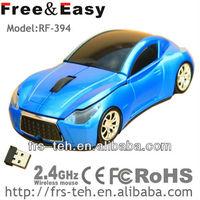 RF-394 AUDI shape 3D LED changing light wireless car mouse