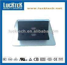 Silver colour desktop US socket with USB jack