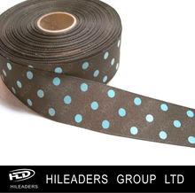 Dots Printed Woven Edge Grosgrain Ribbon