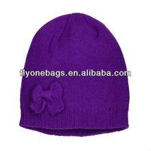 Fashionable women knit beanie hats