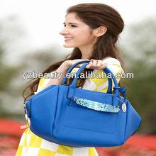 Snake skin pocket blue color cross body bag satchel shoulder bag