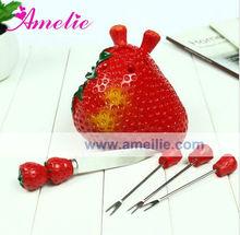A0525 Strawberry Cartoon Children's Fruit Fork
