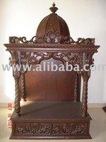 Indian Wooden Home Temple, (Mandir_ / _altar)