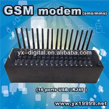 16 Ports bulk sms modem usb/rj45/rs232 interface gsm wavecom modem best internet modem