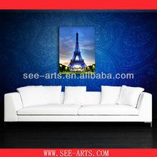 paris eiffel tower print oil painting