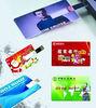 bank card 2gb usb flash disk for promotion ,1gb wallet card usb drive manufactuer ,custom logo flash card 2MM