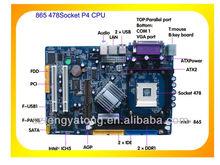 OEM wholesaler good quality Intel 865 chipset motherboard socket 478 motherboard