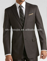 elegant men's brown suit tuxedos Fashionable high Quality custom made italian suit for men