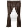 "Classic H0me Window Set-Brown (78x84"") Curtain"