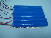 flat top Li-ion 2000mAh 7.2V 18650 battery pack