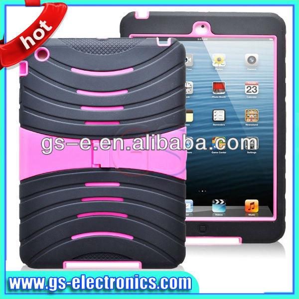 Hot sale for ipad mini case ,hard protective stand robot case for ipad mini
