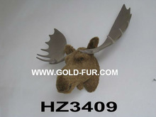 brown moose head,artificial moose head,wall-mounted moose head, moose head decoration