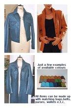 Ostrich Leather Blazer