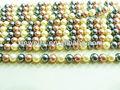 shell e perla perle di vetro su misura eingrosso 12mm misto colore perla shell o di perle di vetro rotondo sciolto perline fili