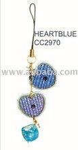 Heart blue Mobile Phone Strip