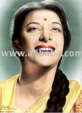 Portrait Of Nargis Dutt