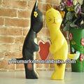 Sculpté en bois chats mariage, merci comme cadeaux pour lesinvités de gros