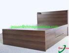 KD melamine mdf wood bed designs