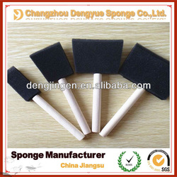 Wooden handle art brush / dust-cleaning sponge brush