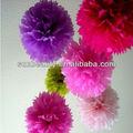 2013 decoración de la boda, Bebé ducha tissue paper flower pom pom bolas