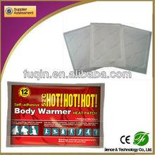 alibaba wholesaler disposable heat patches/ heat pad bag
